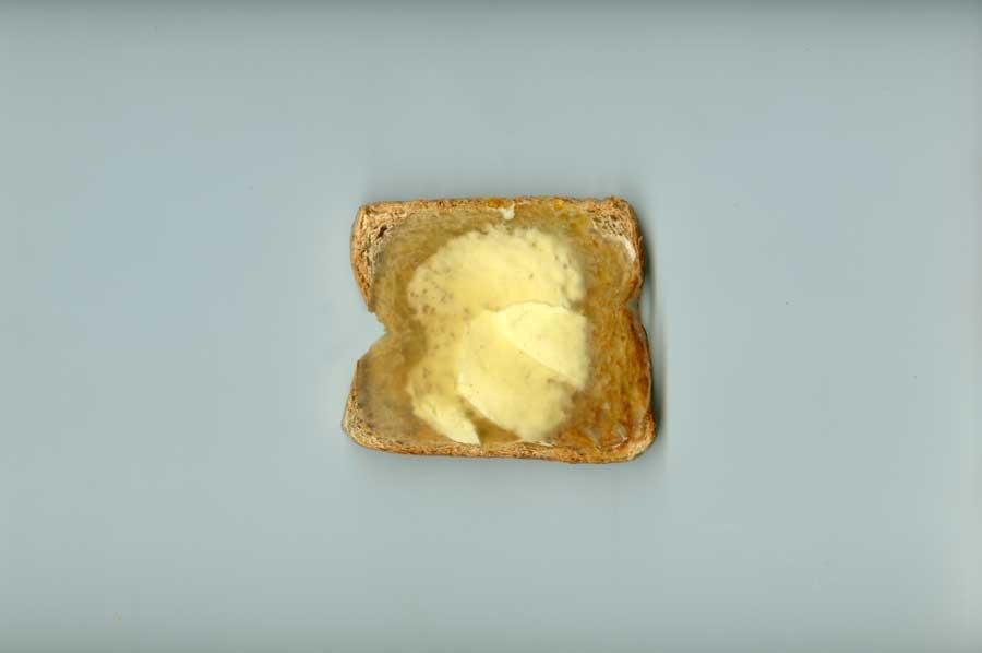 Scan vom Honig-Toast