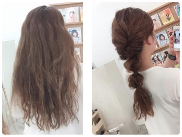 広がりやすい髪の毛をヘアアレンジでコンパクトに!