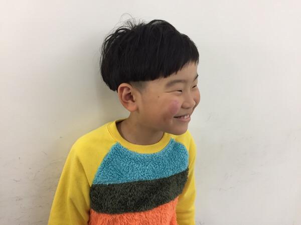 ママから息子様のご紹介小学2年生のカット、オシャレは大事