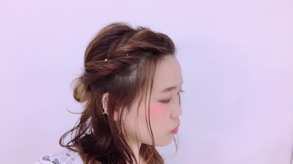 ゆる〜いハーフアップアレンジ♡