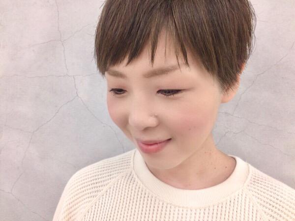 幼馴染のご来店♡直毛さんのスッキリショートヘア
