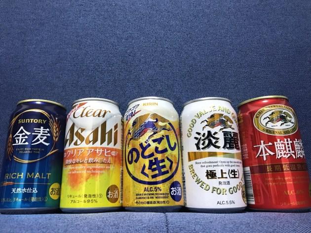 第三のビール+発泡酒5種類飲み比べ