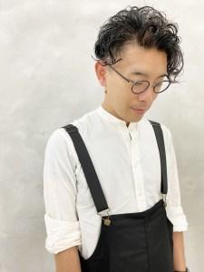 白澤イチオシ☆コロンとしたリッジをだしたメンズパーマスタイルがカッコいい♡