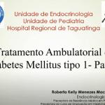 Aula de Tratamento Ambulatorial do Diabetes Mellitus tipo 1