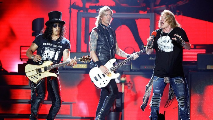 Guns'n'Roses live at Ford Field on 6-23-2016. Photo credit: Ken Settle