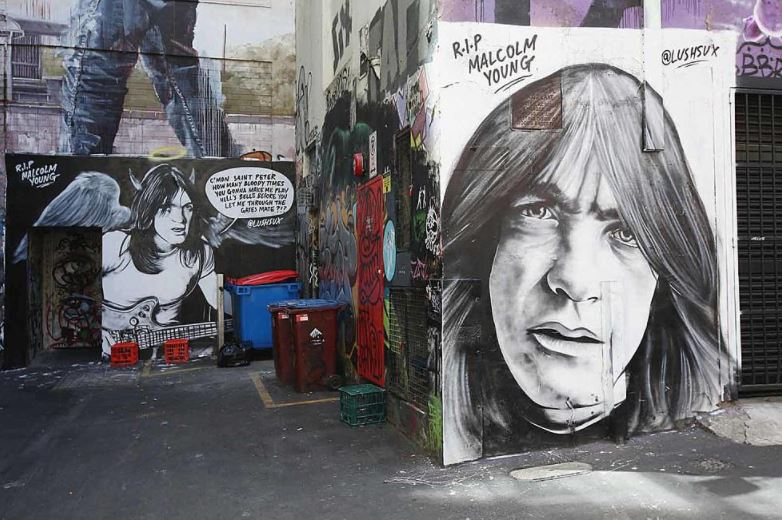 Malcolm Young - Murales Sydney