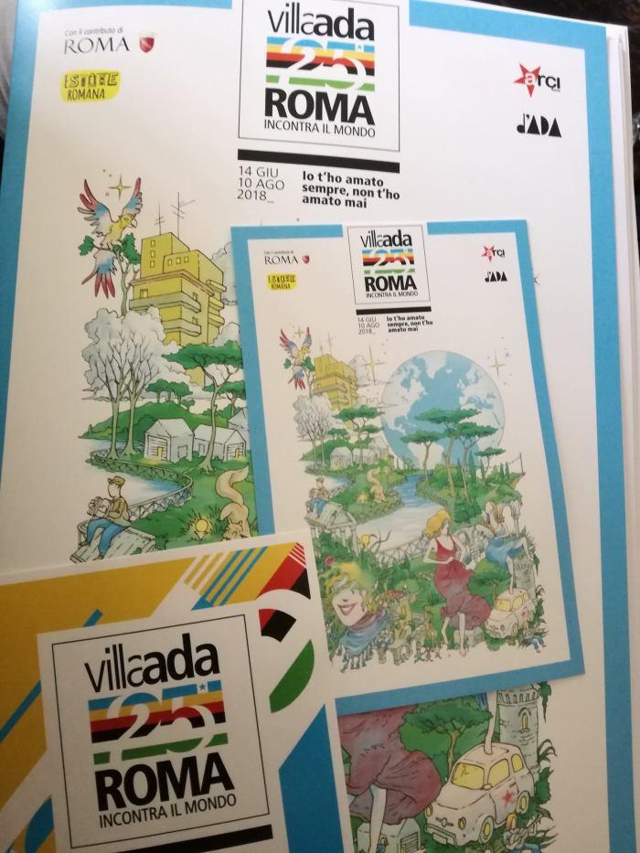 villa ada materiale stampa