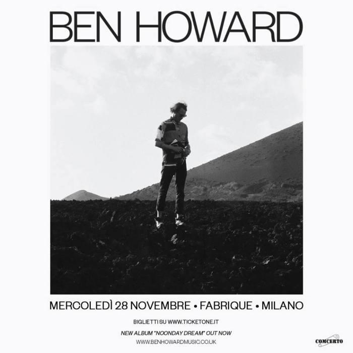ben howard concerto milano 2018