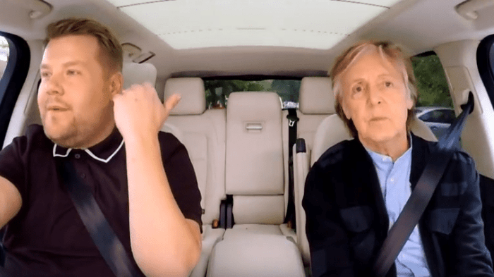 paul mccartney james corden carpool karaoke