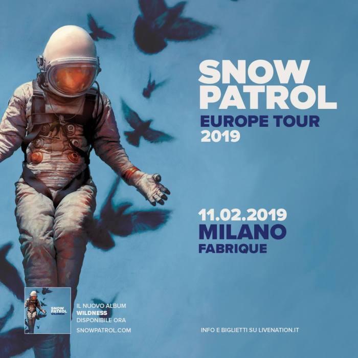 snow patrol concerto milano 11 febbraio 2019 locandina