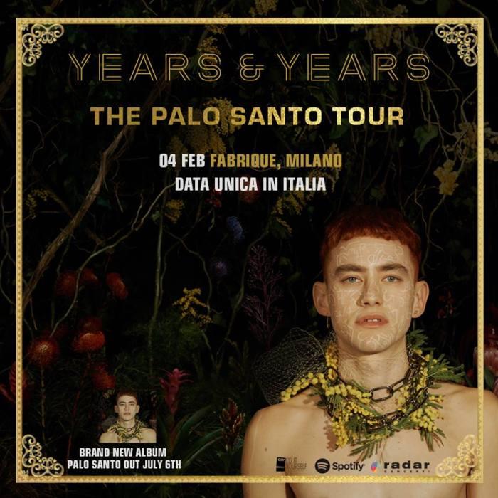 years & years concerto 4 febbraio 2019 fabrique milano