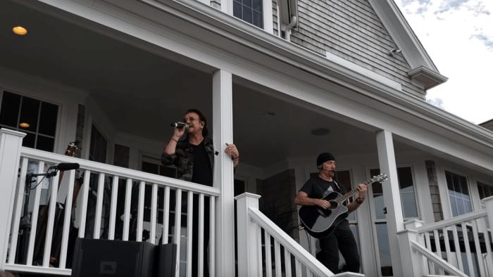 U2 concerto acustico a Cape Cod, Massachusetts, USA - Video