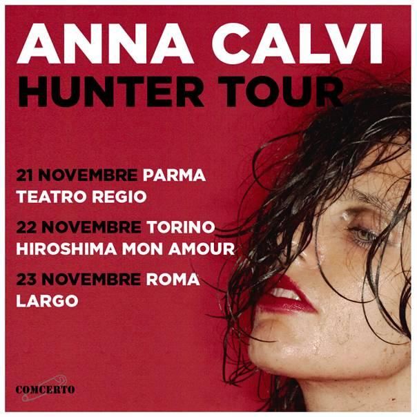 "anna calvi ""hunter tour"" concerti novebre 2018 Parma, Torino, Roma"
