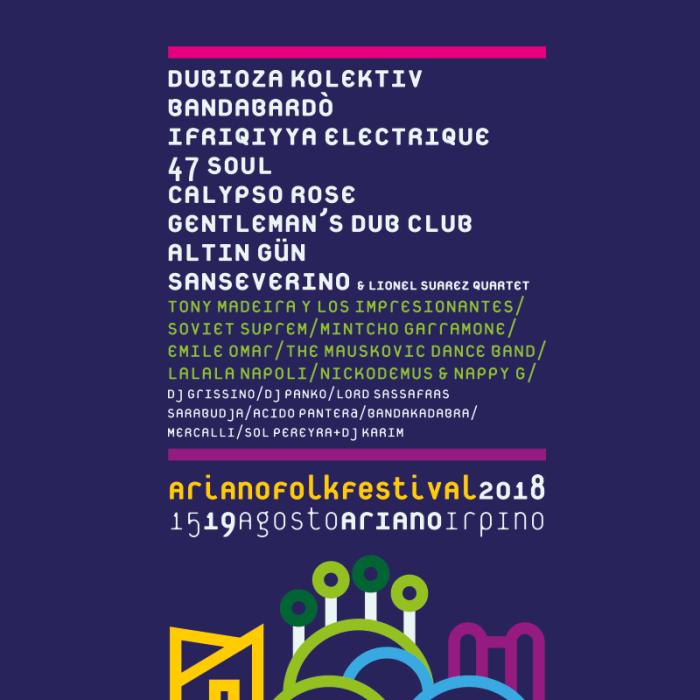 Ariano Folkfestival 2018 lineup e programma