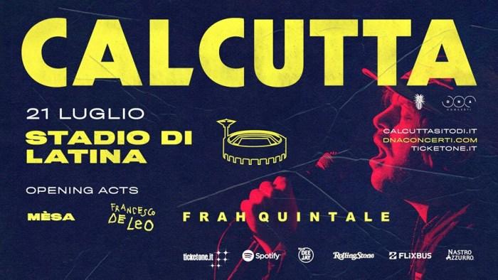 Calcutta concerto Stadio Francioni Latina 21 luglio 2018
