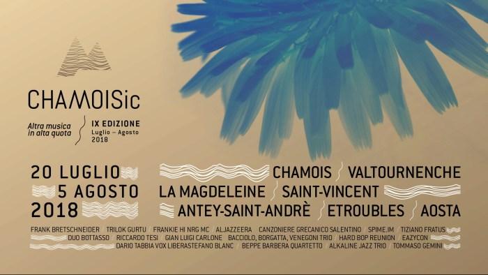 Chamoisic programma 2018 Valtournenche, La Magdeleine e Saint-Vincent