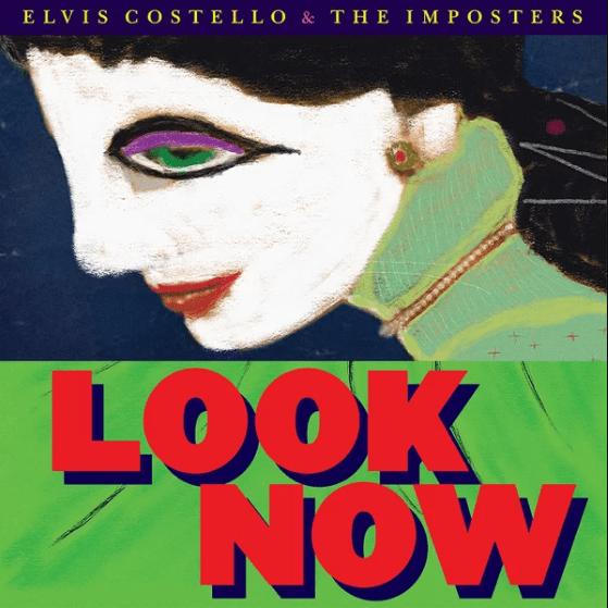 """elvis costello copertina cover album """"look now"""" foto"""