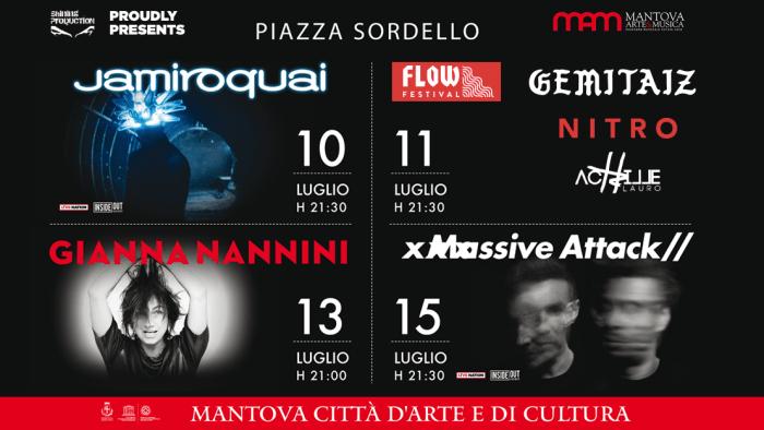 Mantova Arte e Musica 2018 con Jamiroquai, Massive Attack, Gianna Nannini, Gemitaiz, Nitro e Achille Lauro
