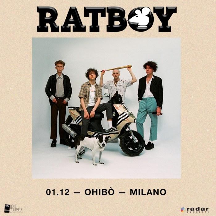 Ratboy concerto sabato 1 dicembre Circolo Ohibò, Milano