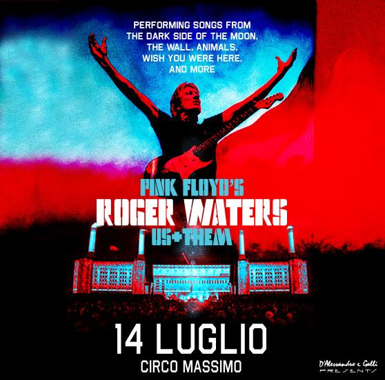 Roger Waters concerto sabato 14 luglio 2018 Circo Massimo Roma locandina