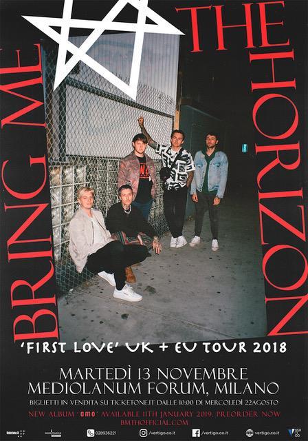 """Bring Me The Horizon concerto martedì 13 novembre 2018 al Mediolanum Forum con il nuovo album """"Amo"""" in uscita l'11 gennaio 2019"""