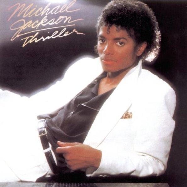 """Michael Jackson """"Thriller"""" cover copertina album"""