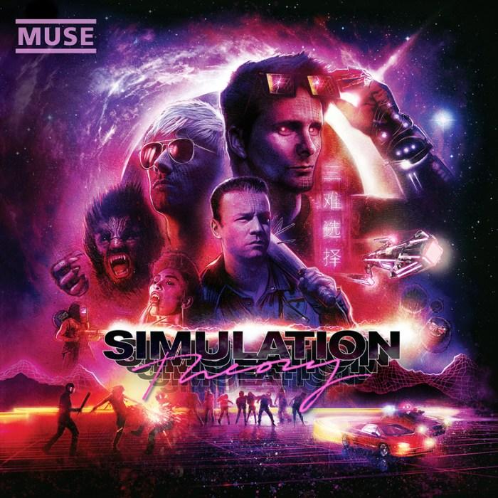 """Muse nuovo album """"Simulation Theory"""" in uscita il 9 novembre 2018 cover copertina"""