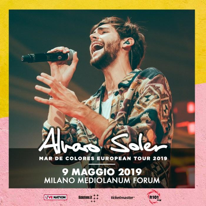 """Alvaro Soler in concerto il 9 maggio al Mediolanum Forum di Milano con il nuovo album """"Mar De Colores"""""""