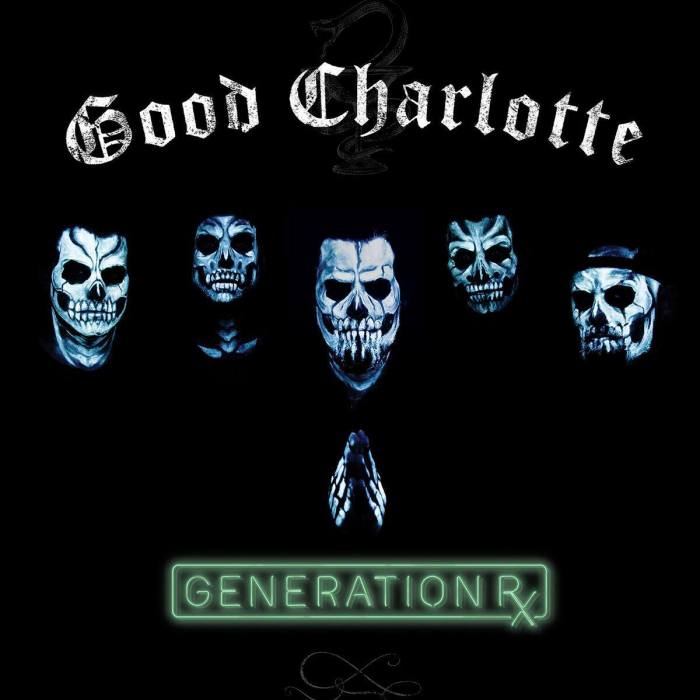 "Good Charlotte cover copertina nuovo album ""Generation Rx"""