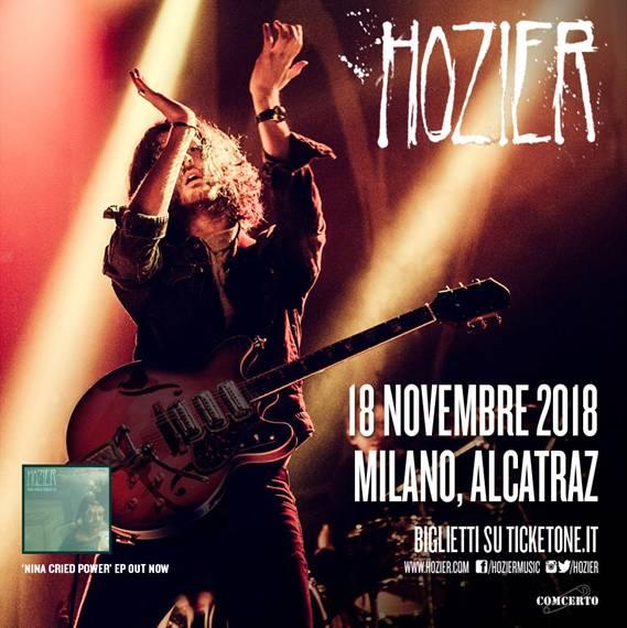 Hozier concerto 18 novembre Milano locandina