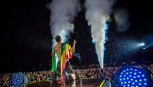 Imagine Dragons, Dan Reynolds davanti ai 60.000 spettatori di Milano Rocks, foto di Milano Rocks