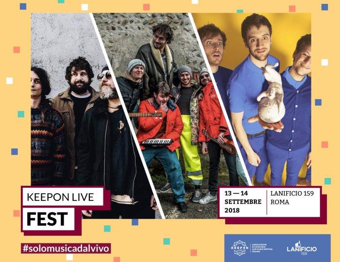 KeepOn Live Fest 2018 con Pinguini Tattici Nucleari, Eugenio in Via di Gioia, Dunk