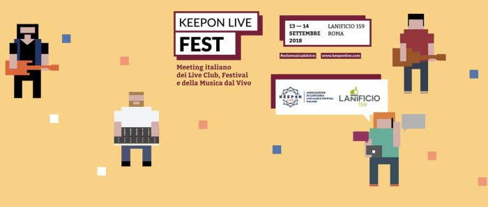 KeepOn Live Fest 2018 al Lanificio 159 di Roma il 13 e 14 settembre