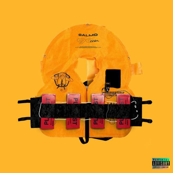 """Salmo cover copertina singolo """"90MIN"""""""