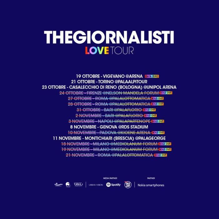 """Thegiornalisti seconda data sold out Mediolanum Forum Milano """"Love Tour""""Thegiornalisti seconda data sold out Mediolanum Forum Milano """"Love Tour"""""""