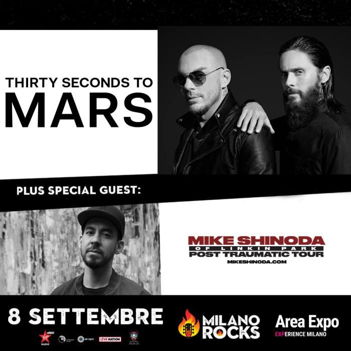 thirty seconds to mars e mike shinoda dal vivo a Milano Rocks 2018thirty seconds to mars e mike shinoda dal vivo a Milano Rocks 2018