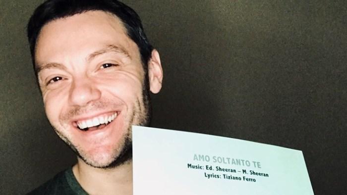 """Tiziano Ferro ha composto """"Amo Soltanto Te"""" insieme a Ed Sheeran per il nuovo album """"Sì"""" di Andrea Bocelli"""