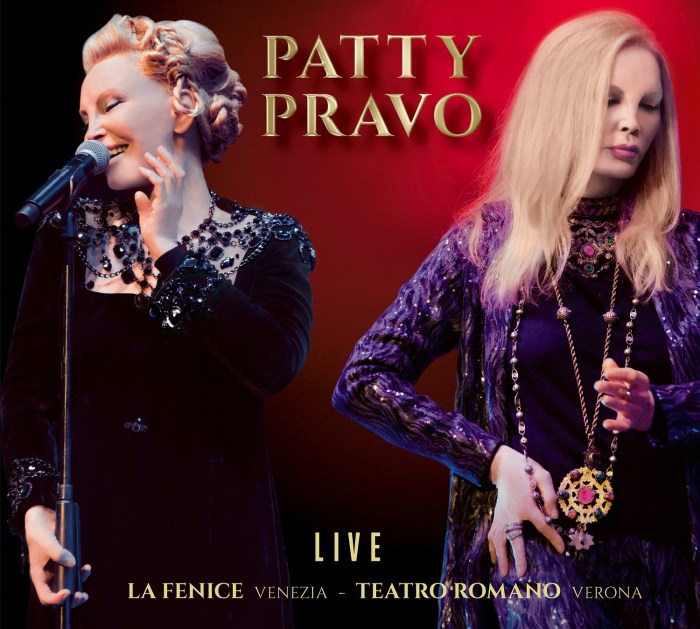 """Copertina cover album """"Patty Pravo Live"""" Patty Pravo"""