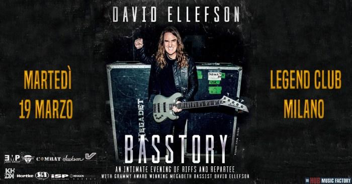 "David Ellefson arriva il 19 marzo al Legend Club per ""Basstory"", storytelling sui riff di basso dei Megadeth"