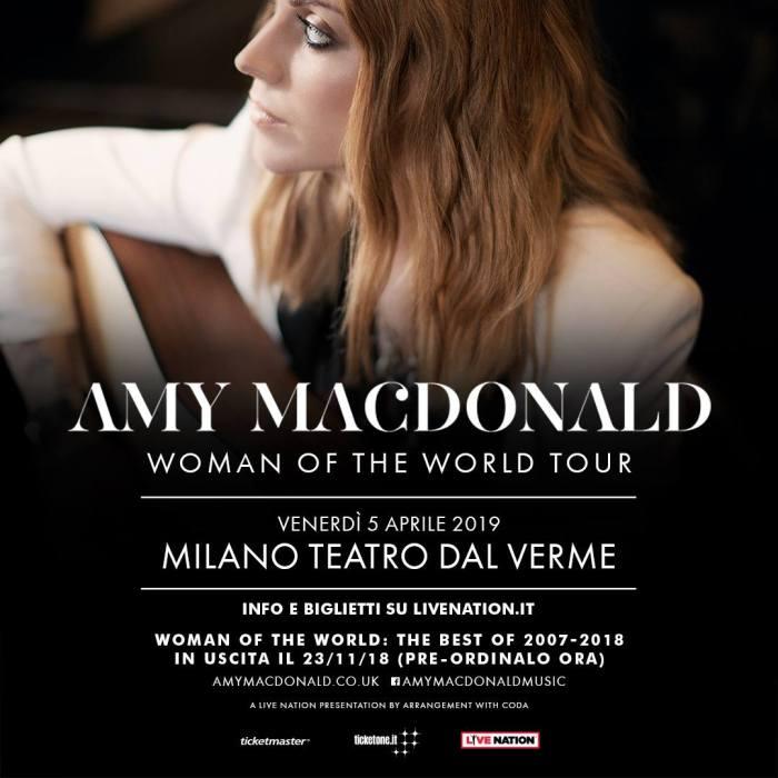 Amy Macdonald presenta il suo primo best of in concerto venerdì 5 aprile al teatro Dal Verme di Milano
