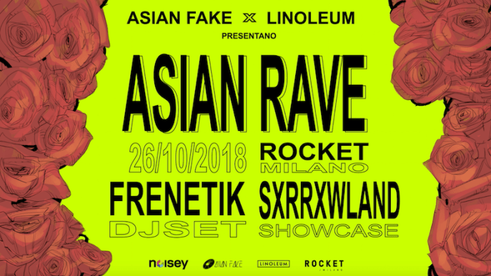 Asian Rave venerdì 26 ottobre con Sorrowland e Frenetik djset al Rocket di Milano