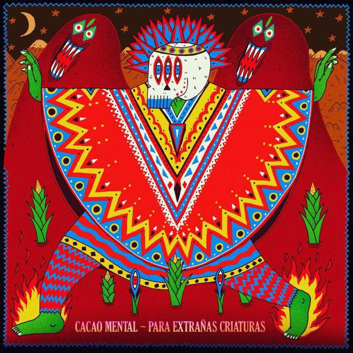 """Para Extranas Criaturas"" cover copertina album Cacao Mental"