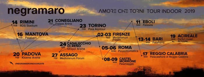 """I Negramaro posticipano """"Amore Che Torni Tour Indoor"""" al 2019: ecco le nuove date dei cocnerti"""