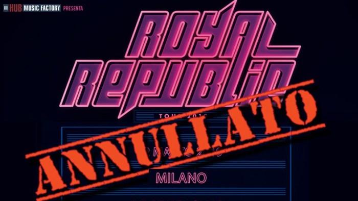 La band rock svedese Royal Republic ha annullato il tour e l'unica data a Milano per continuare le registrazioni del nuovo album