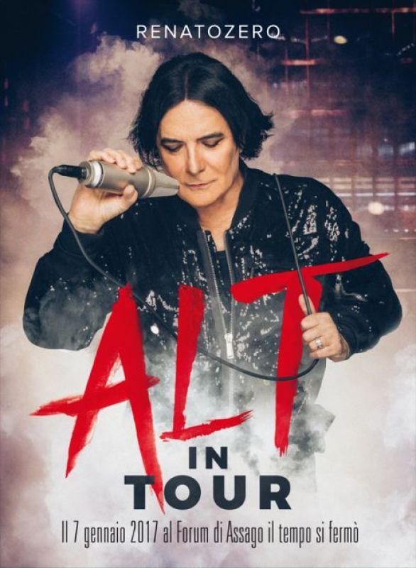 "Renato Zero locandina concerto 7 gennaio 2017 Milano ""Alt In Tour"""