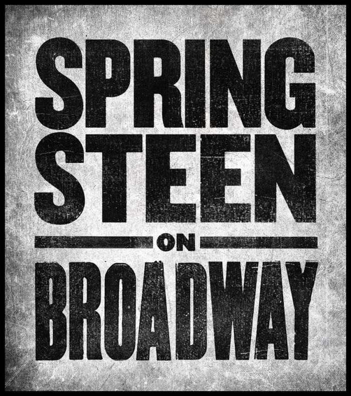 "Bruce Springsteen ""Springsteen on Broadway"" cover copertina album"