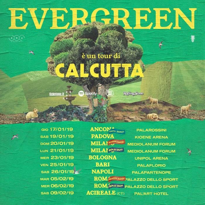 """Calcutta apre il tour ad Ancona, data zero di """"Evergreen Tour"""""""