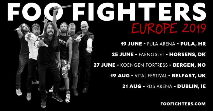 Foo Fighters in tour nell'estate 2019