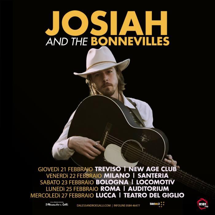 Josiah And The Bonnevilles arriva in Italia per cinque concerti a Treviso, Milano, Bologna, Roma e Lucca