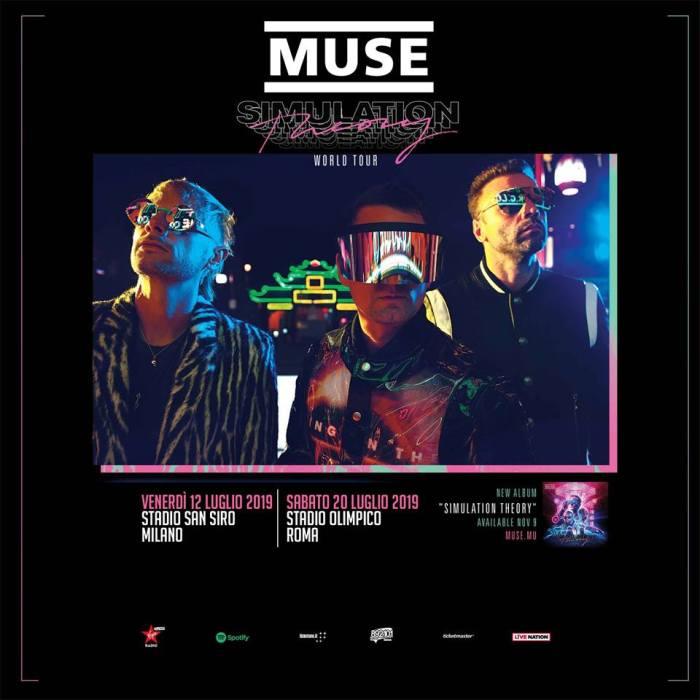 I prezzi dei biglietti dei concerti di Milano e Roma dei Muse